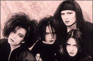 L'Arc~en~Ciel em 1991 com Tetsuo, Hiro, Pero e Hide (Imagem Divulgação)