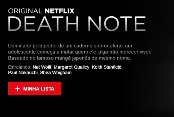 Death Note | Netflix inaugura página com logo e sinopse de novo filme