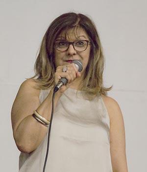 Cecília Lemes em sua palestra no Rio Claro Geek Festival 2017