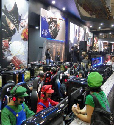 Estande de Black Desert Online na Brasil Game Show 2017