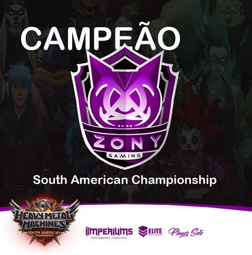zony gaming heavy metal machines south america championship