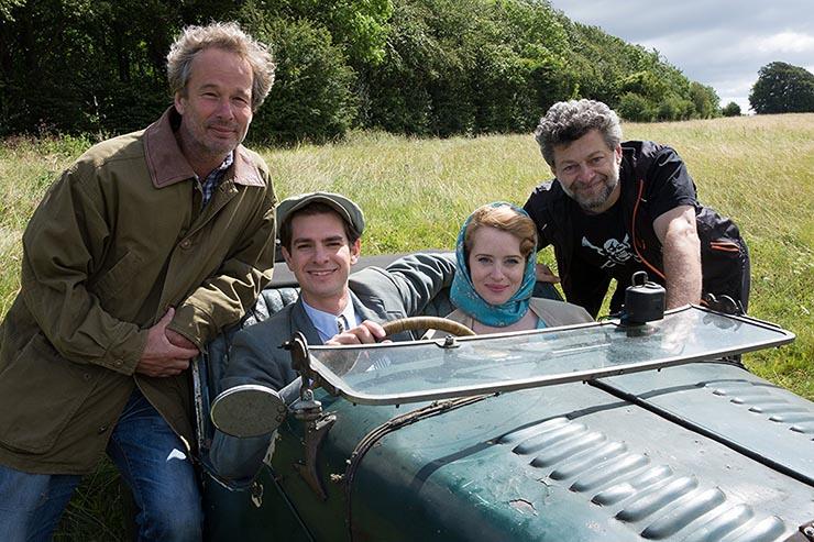 Jonathan Cavendish, Andrew Garfield, Claire Foy e Andy Serkis em Andrew Garfield e Claire Foy em Uma Razão para Viver