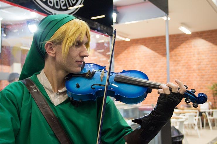 link violinista ccxp 2017