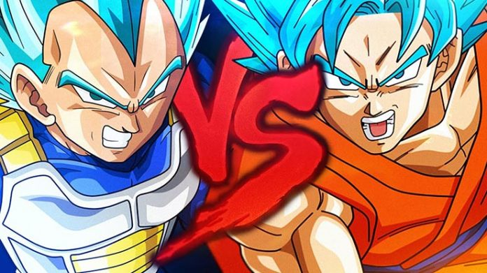 dragon ball goku vs vegeta
