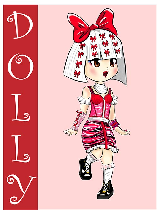 Kawaii Monster Dolly por Sofis