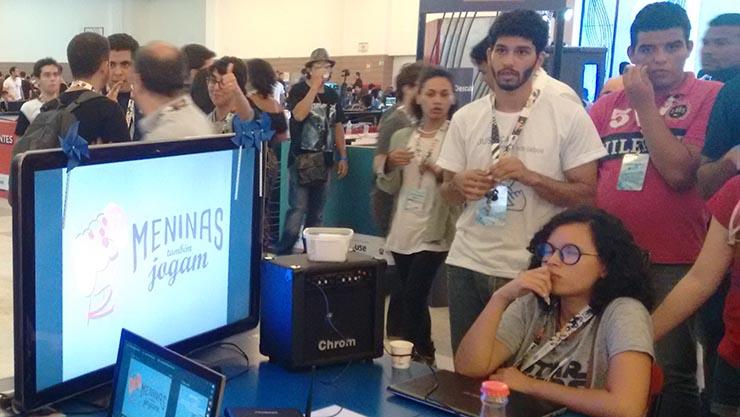 Meninas Também Jogam em apresentação na Campus Party Natal