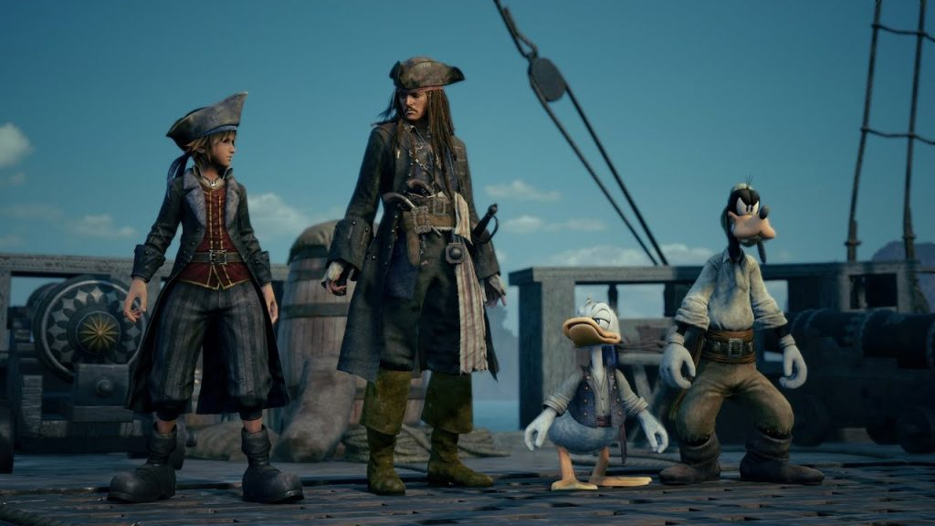 kingdom hearts III piratas do caribe