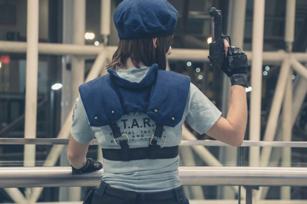 Cosplayers de Resident Evil 2 na Brasil Game Show 2018