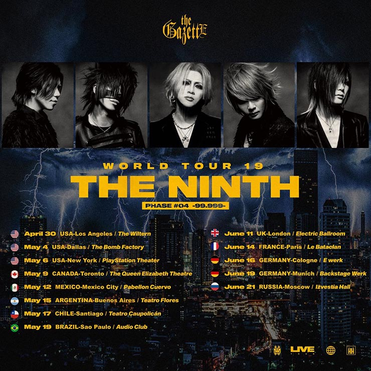 the gazette the ninth tour