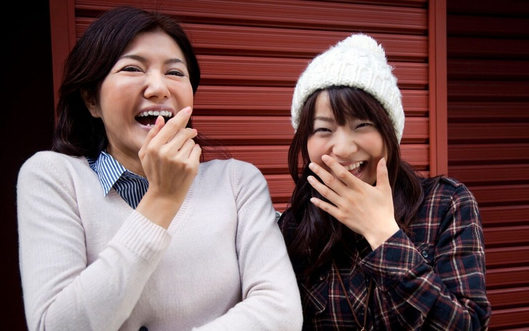 japonesas mao boca