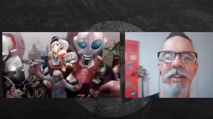 João Gordo mostra sua coleção de Ultraman em canal no YouTube
