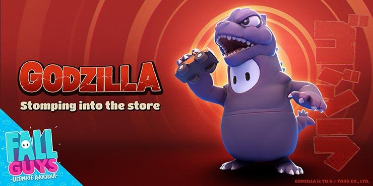 Godzilla (em forma de jujuba) é a novidade em Fall Guys